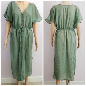 Roomates Ilive Green Kimono Size Medium